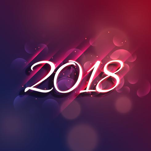 vector shiny 2018 new year greeting design