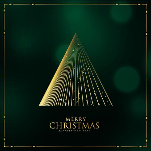 christmas tree design made with lines background