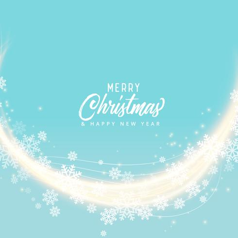 soft blue snoflakes merry christmas background design