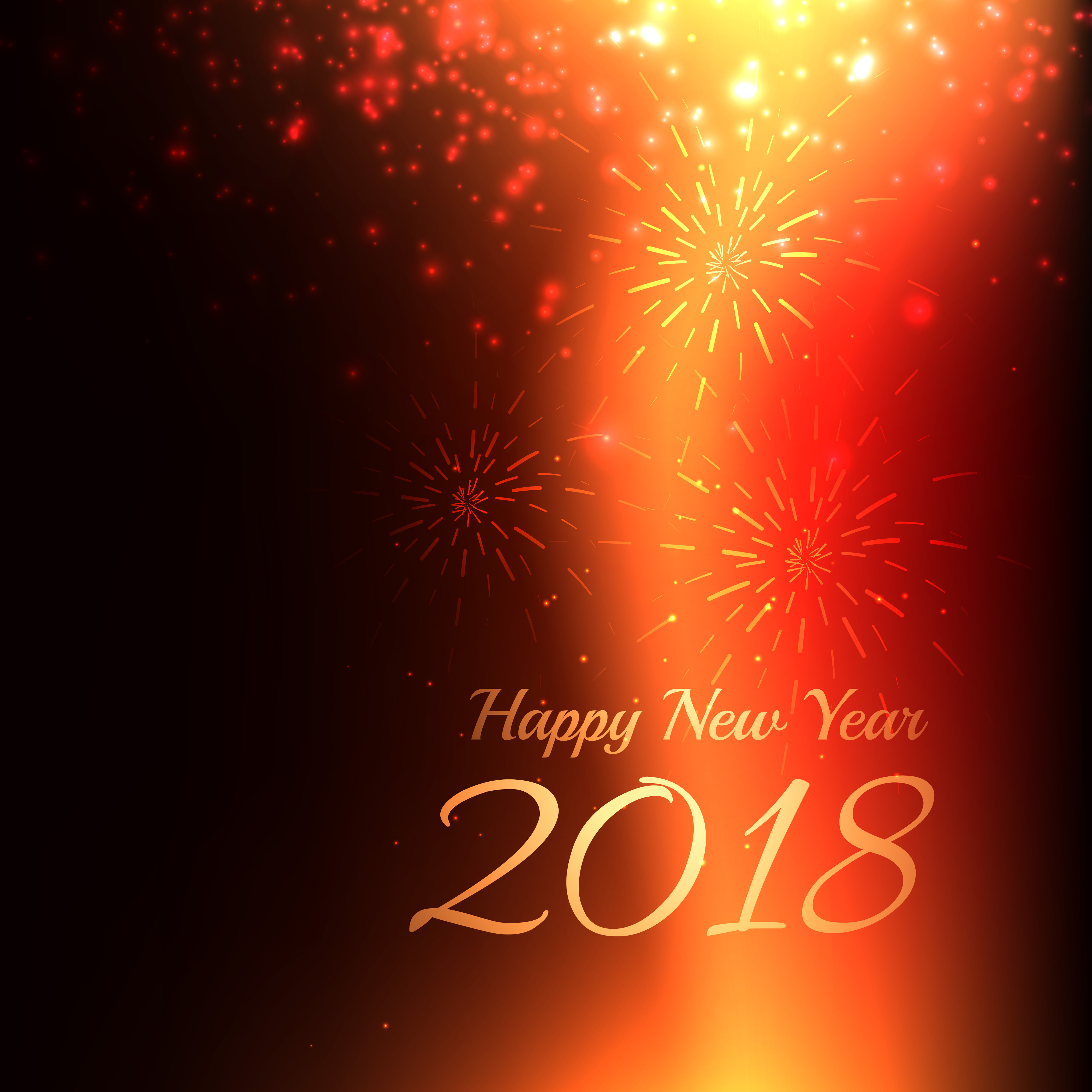 Happy New Year 2018 Background With Light Effect