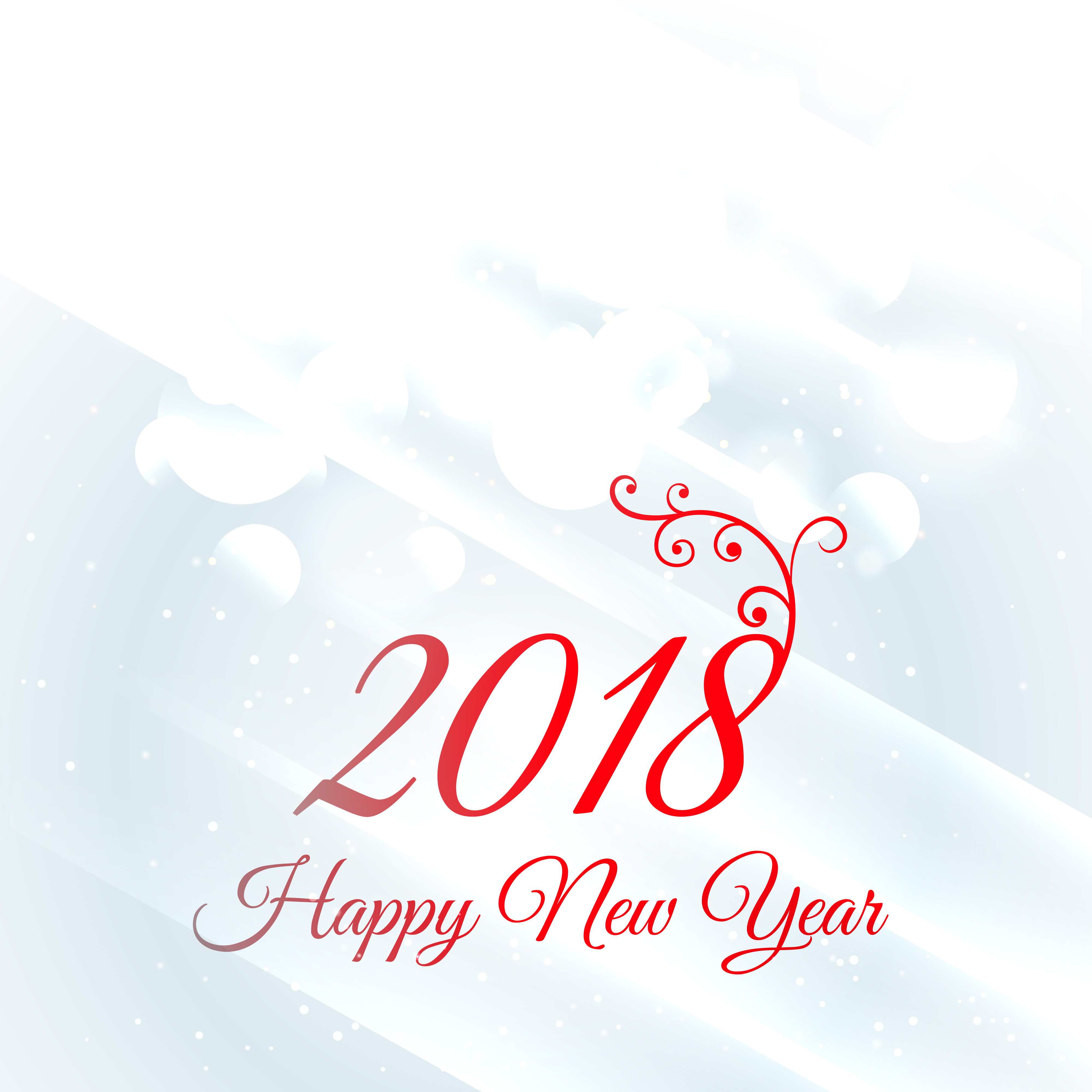 2018 happy new year greeting card design background download free vector art stock graphics images