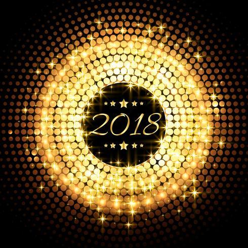 beautiful glitter glowing 2018 new year party celebration backgr