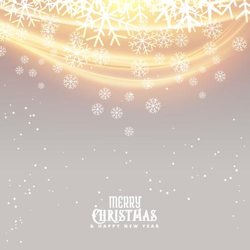 snowflakes background for christmas season with light effect