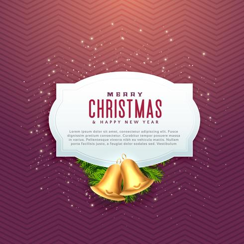 beautiful christmas design with text space and golden bell