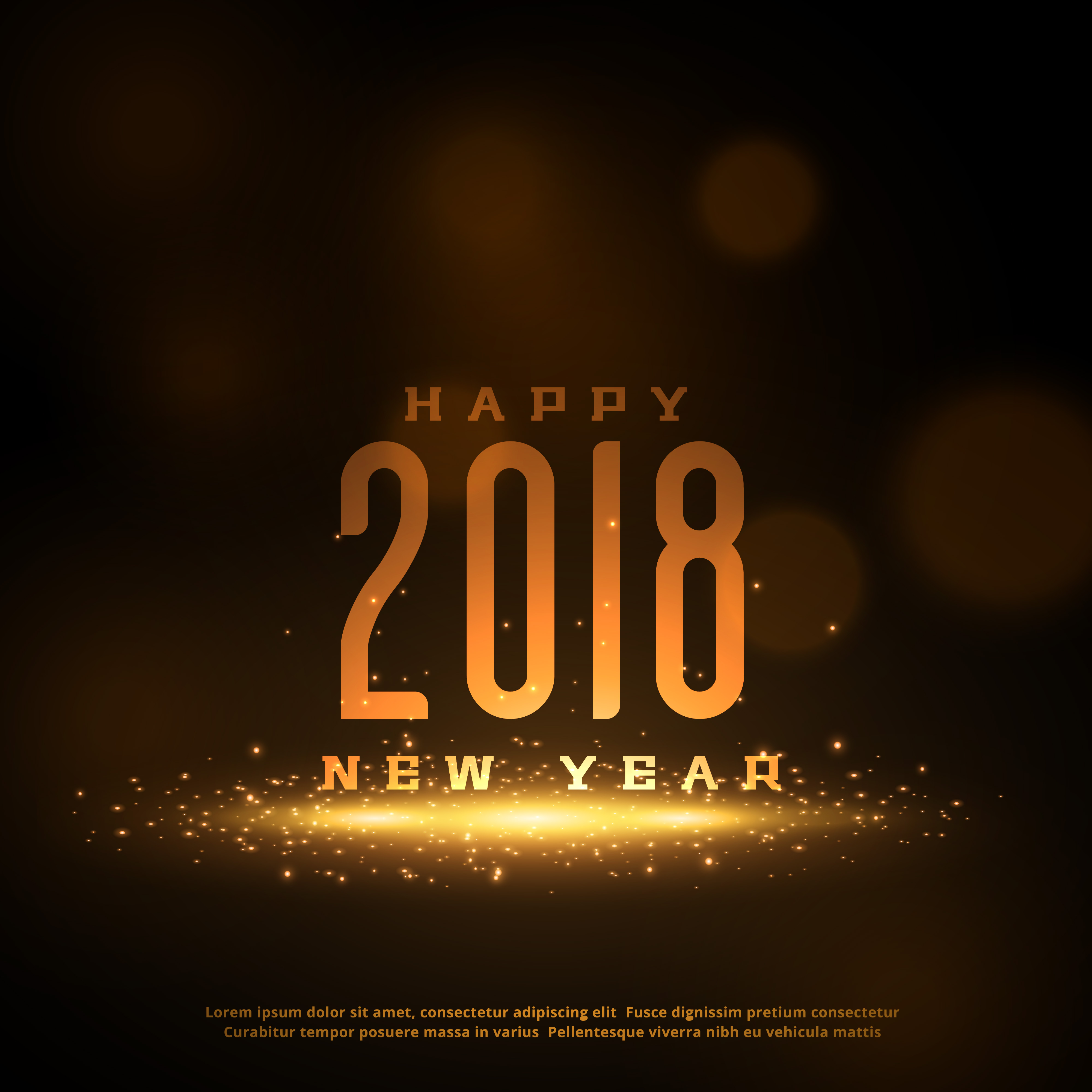 shiny 2018 happy new year greeting card design with sparkles download free vector art stock graphics images