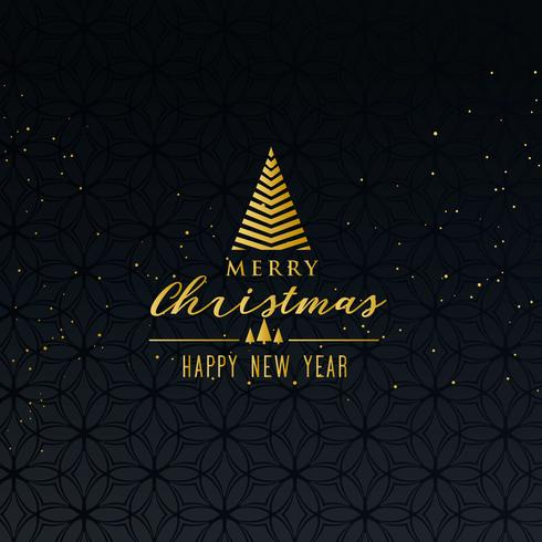 simple premium merry christmas greeting design on dark backgroun
