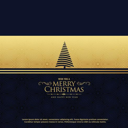 premium christmas holiday greeting card design in golden style