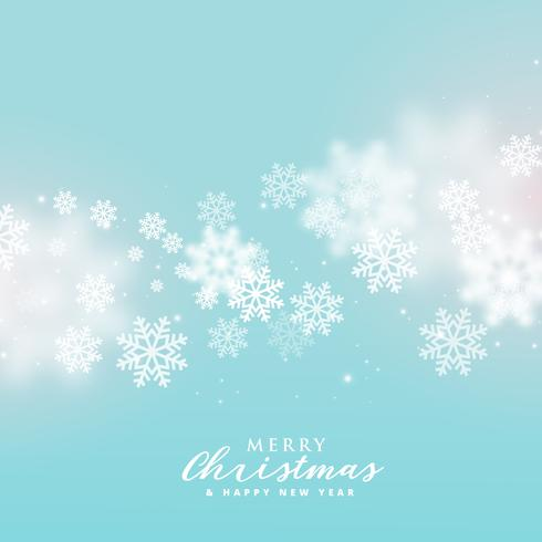 beautiful soft snowflakes background for christmas winter season