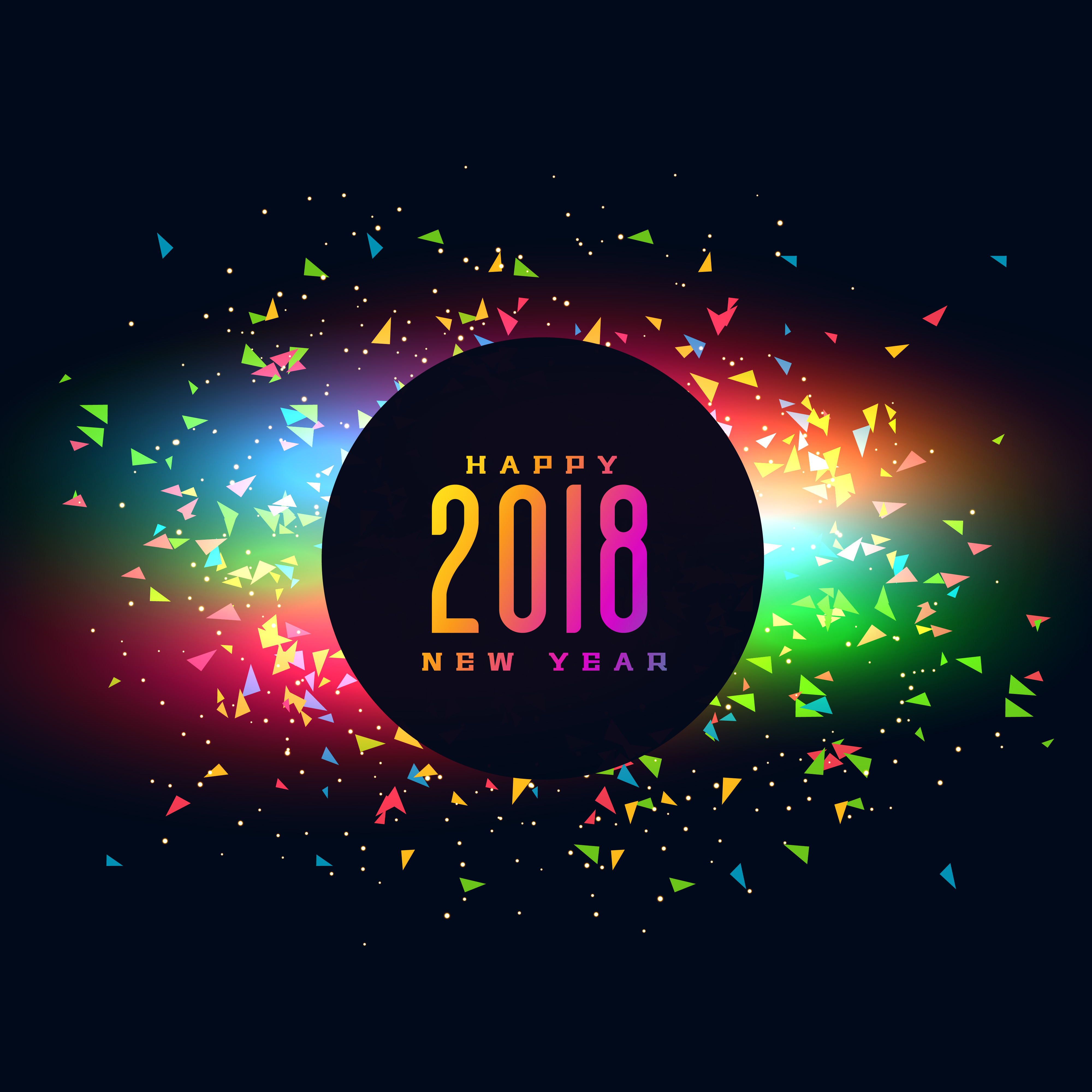 2018 happy new year colroful party background design download free vector art stock graphics images