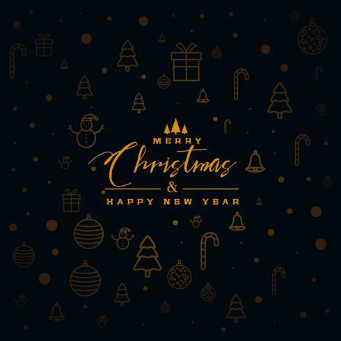 dark christmas background with design elements