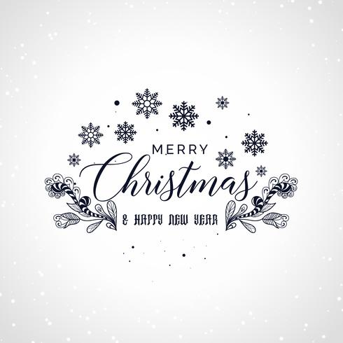 merry christmas lettering with decorative design