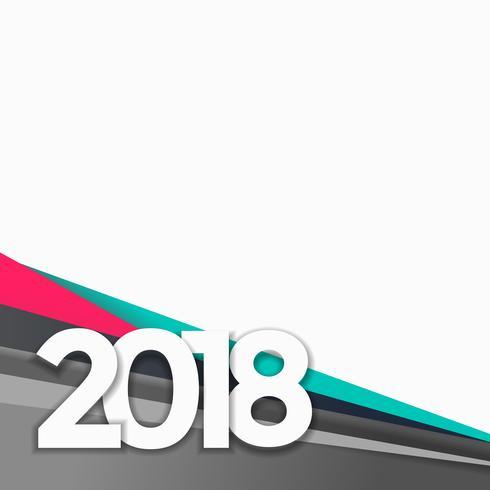 maak 2018 gelukkige nieuwe jaarachtergrond schoon met ruimte voor uw tekst