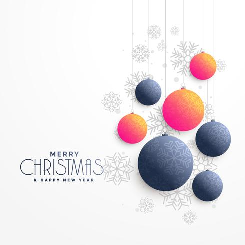 merry christmas beautigul greeting design with balls