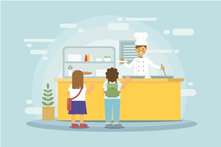 Free Canteen Illustration