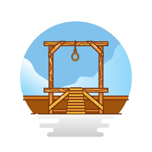 Gratis Gallows Vector Illustration