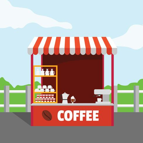 Coffee Stand Vector Illustration