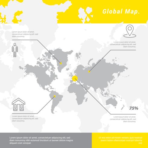 globala kartor vektor