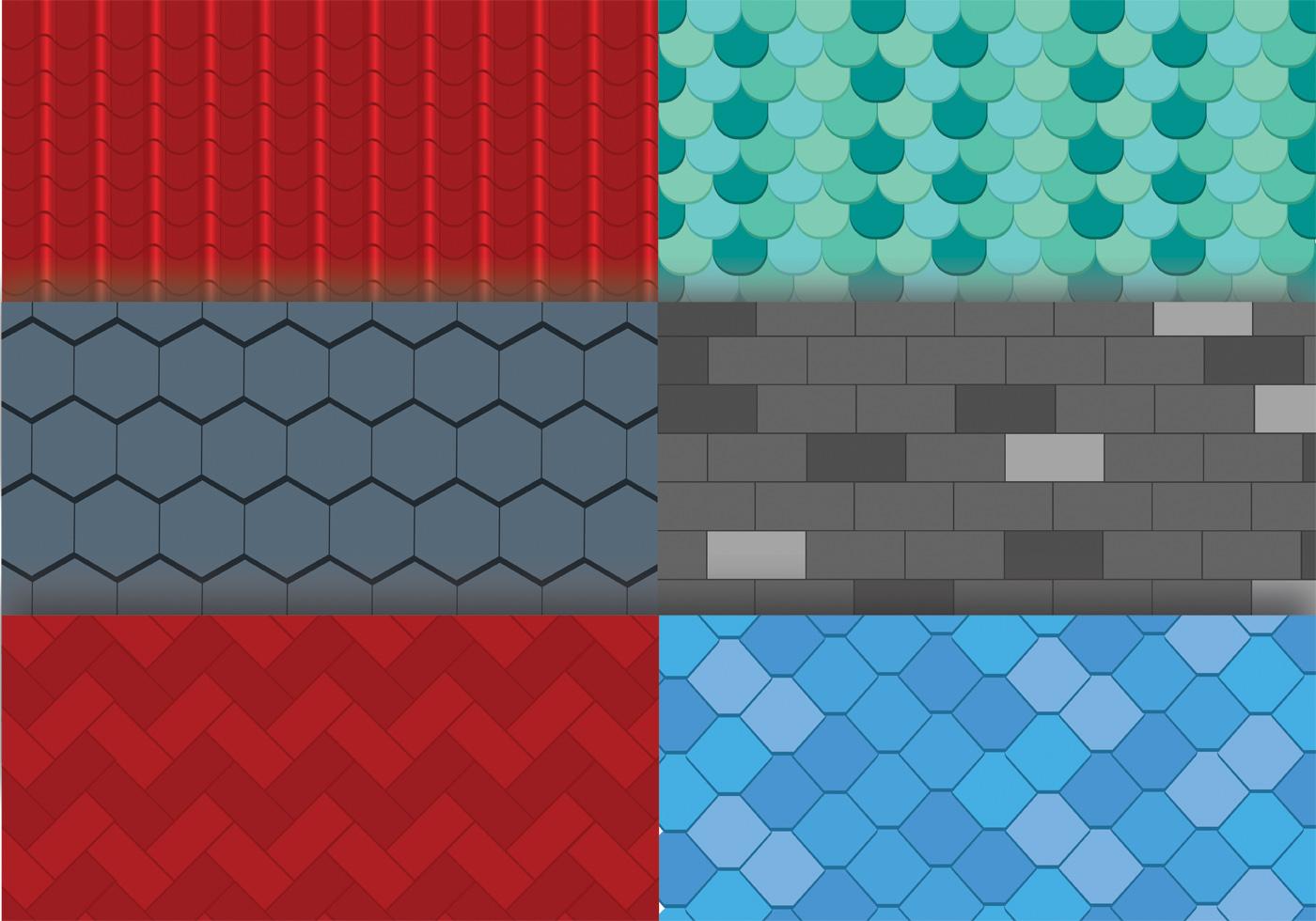 Roof Tile Texture Vector Pack Download Free Vector Art