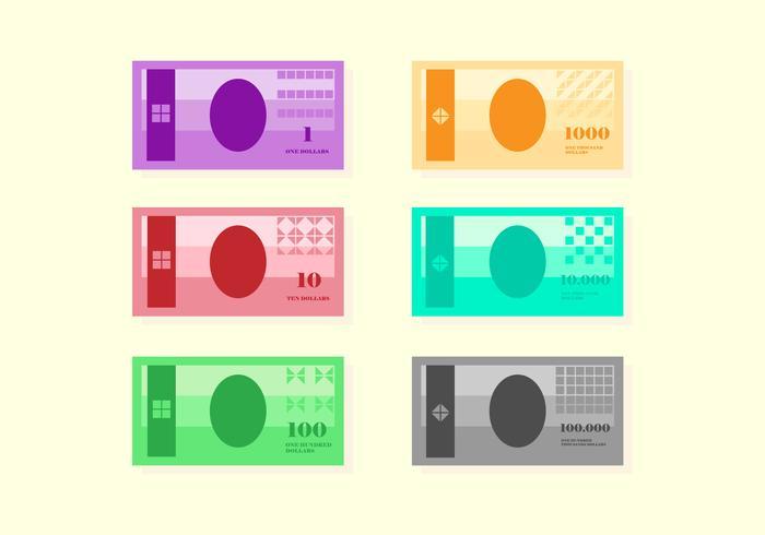 Conjunto de vectores de dinero de muestra