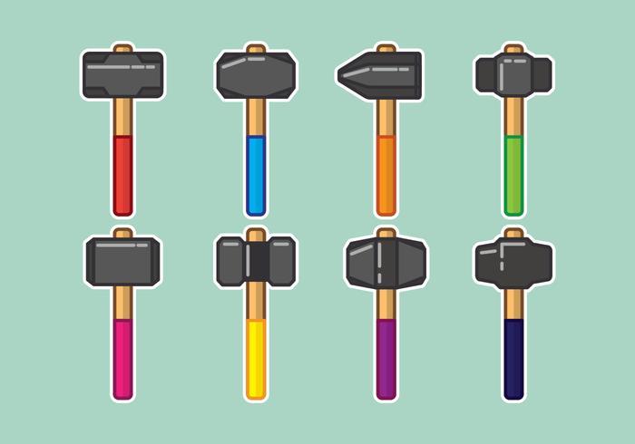 Sledgehammer Ikoner Set