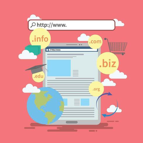 Free Domain Name Illustration