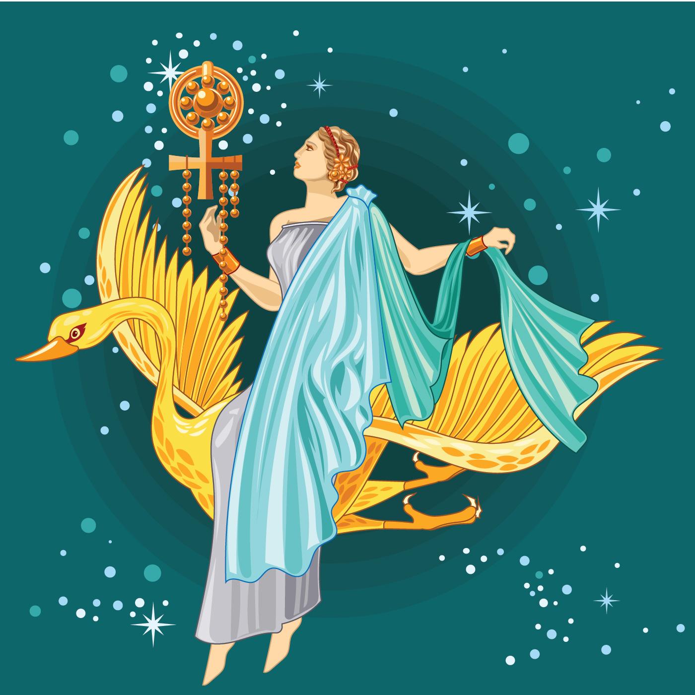Birth of Greek Goddess Aphrodite - Download Free Vectors ...
