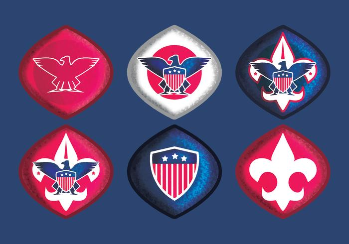 Insignias Eagle Scout de vector