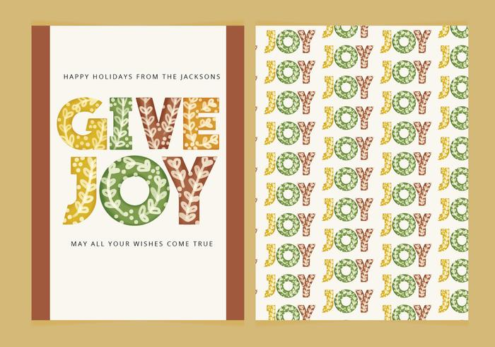 Vector Winter Holidays Card
