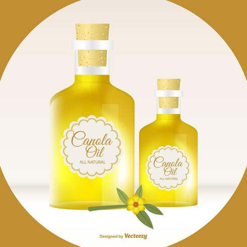 Bottle of Canola Oil Illustration