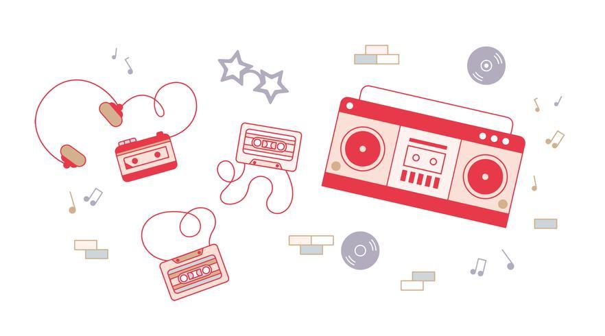 Vecteur de cassette gratuit