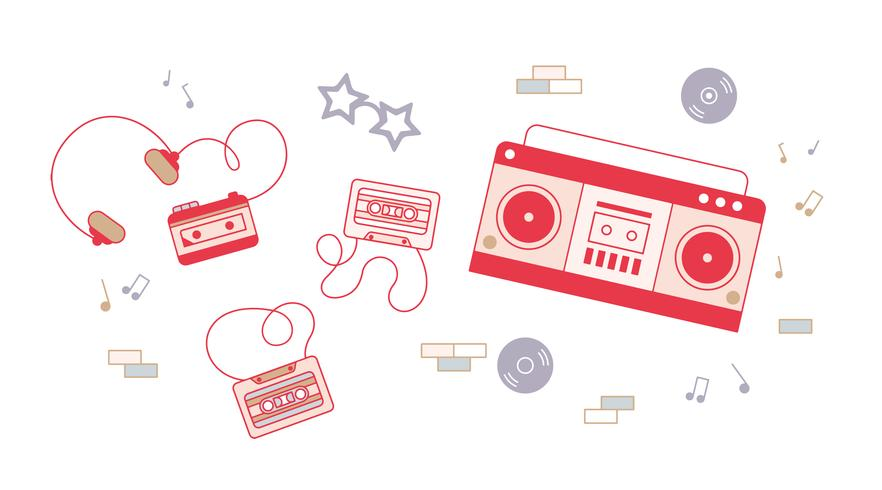 Gratis kassettvektor