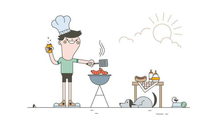 Gratis Barbecue Vector