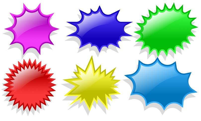 Vektor-Satz Preis-Blitz-Aufkleber