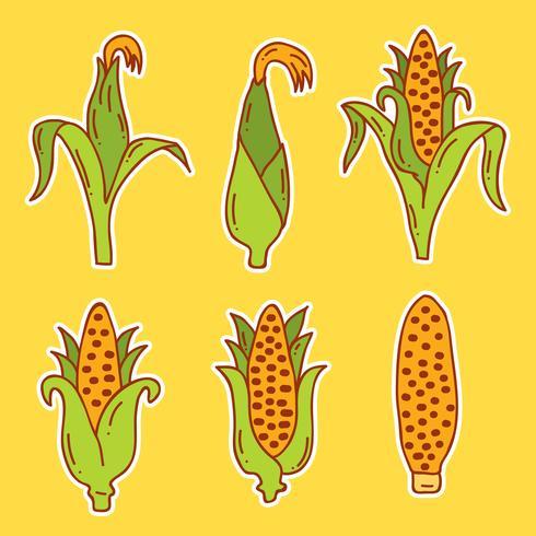 Handdragen majsvektor