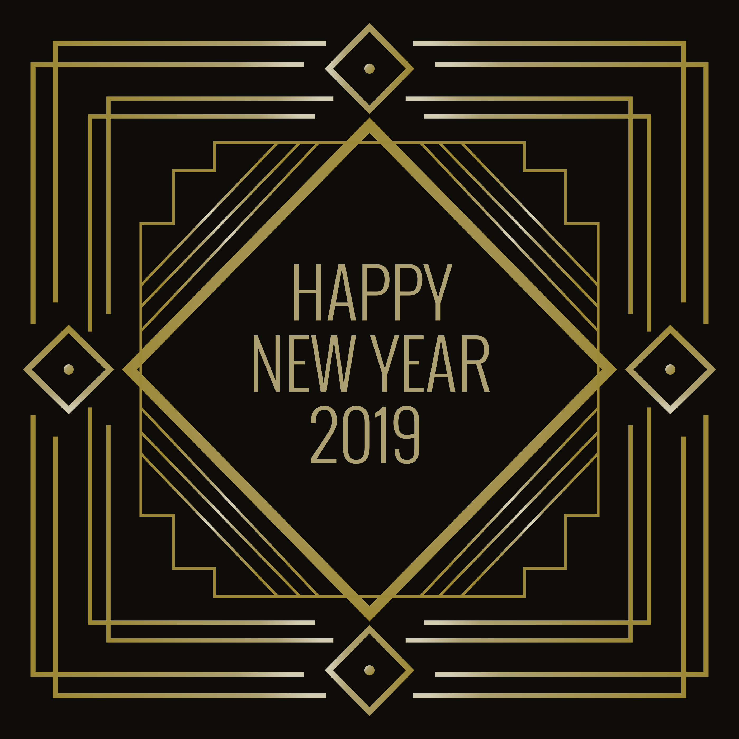 Happy new year in art deco style download free vector for Art deco look