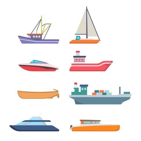 Vettori di navi piatte