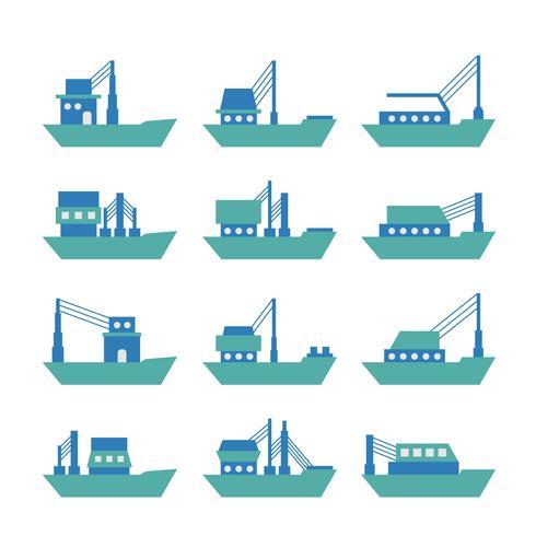 Tugboat Or Trawler Vector