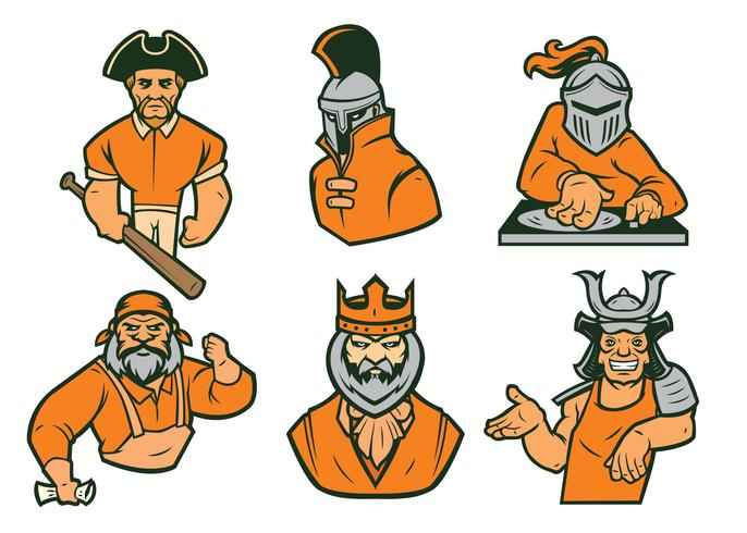 Warrior Mascot Vector