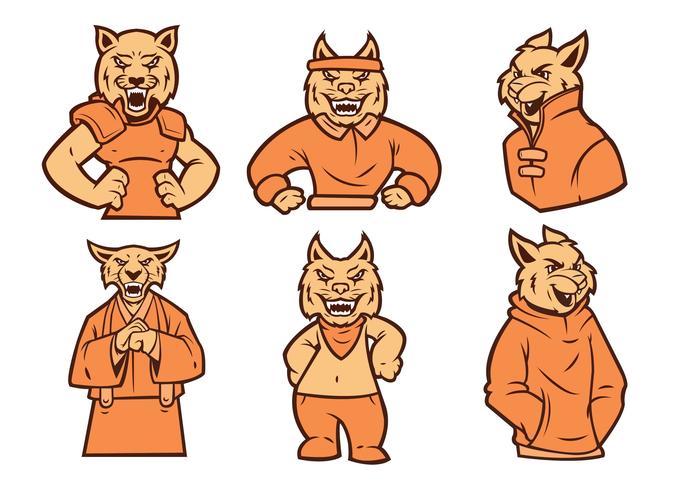 wilde kat logo vector