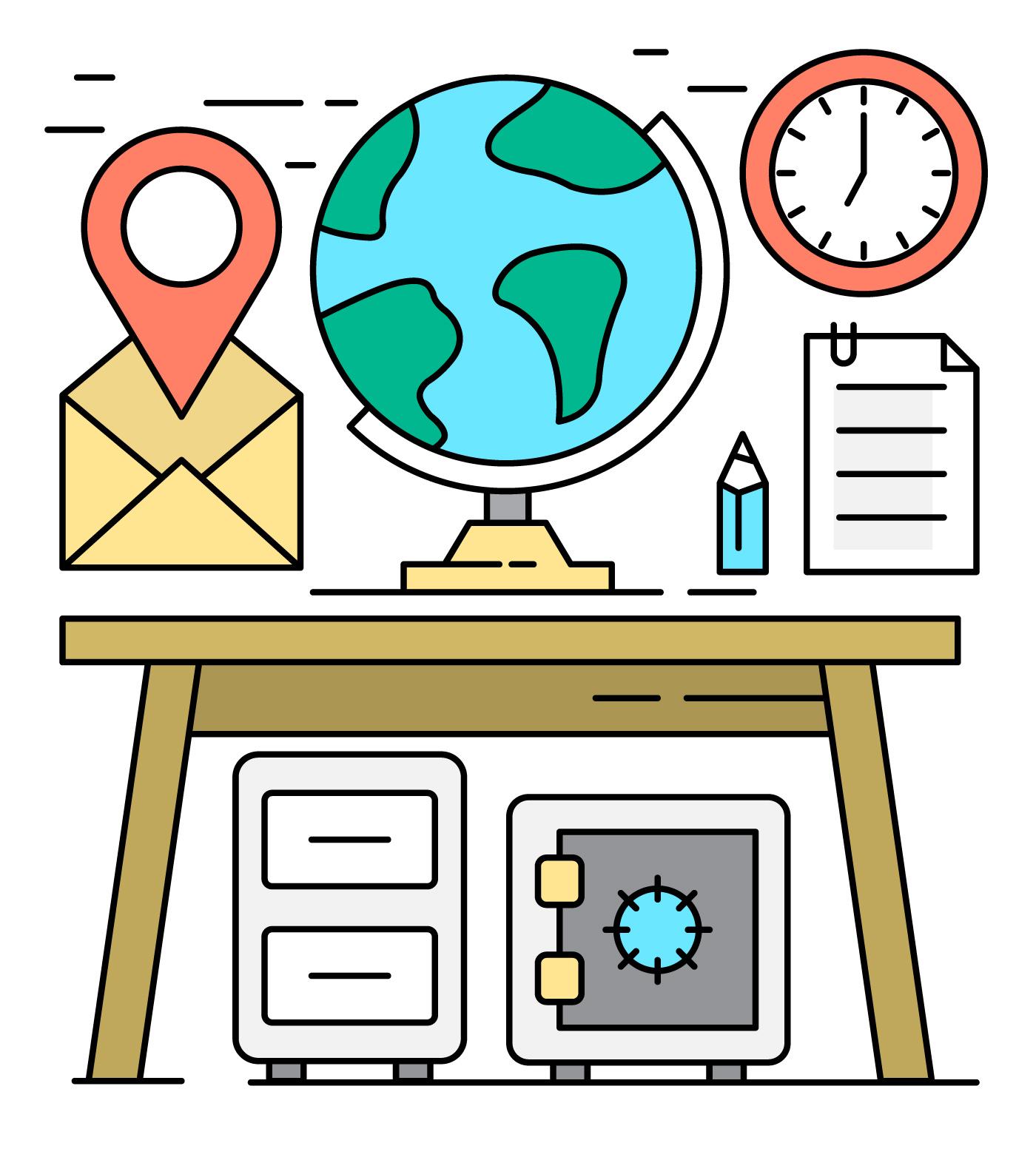 Elementos de escritorio de oficina gratis descargue for Elementos para oficina