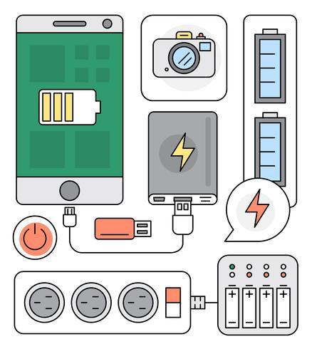 Elementos vetoriais da fonte de energia
