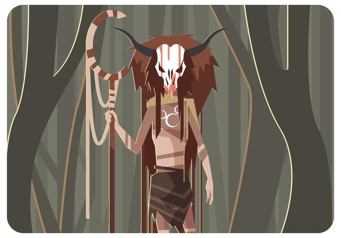 misterioso vetor shaman