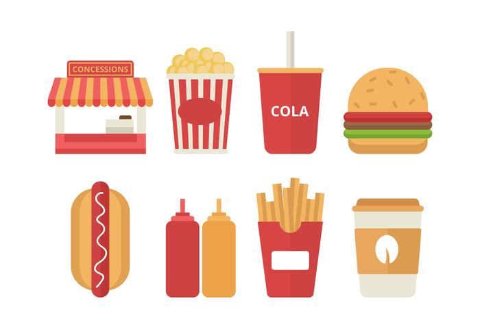 Free Concession Stand Vector Icons