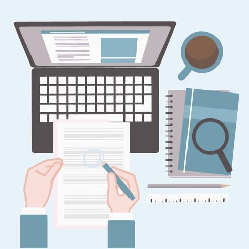 Vector Job Search Illustration