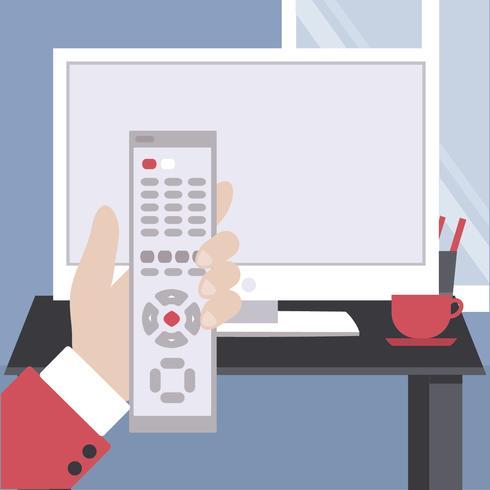 Ilustración de Vector TV Remote