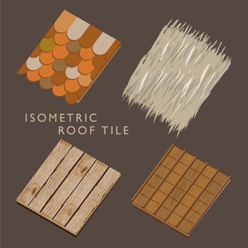 Isometrischer traditioneller Dachziegel-Vektor