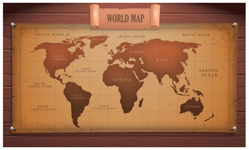 Ancient Global Map Vector
