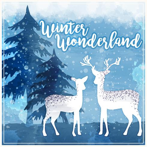 vektor vinter wonderland illustration