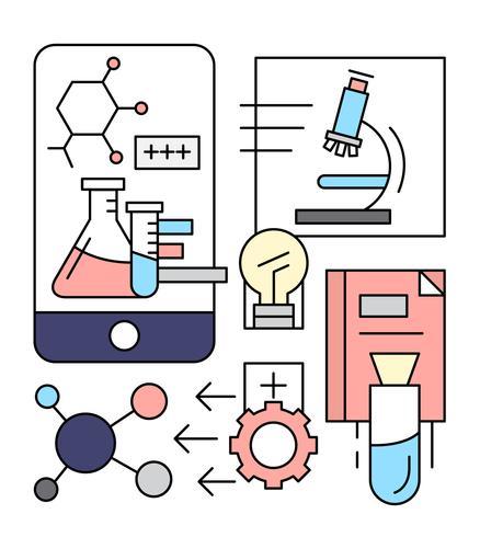 Ícones de Química Linear Gratuita