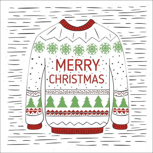 Free Hand Drawn Vector Christmas Illustration